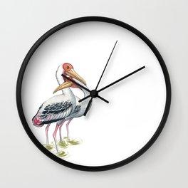 Painted Stork (Mycteria leucocephala) Wall Clock