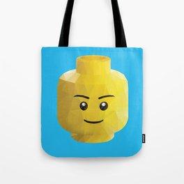 Yellow Legohead Polygon Art Tote Bag
