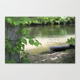 The river bed ( Life's an adventure! ) Canvas Print