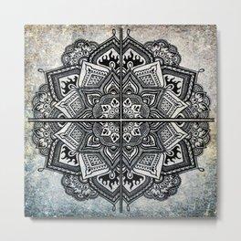 Mandala Aquarelle Metal Print