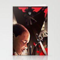 vendetta Stationery Cards featuring V (For Vendetta) by Chris B. Murray