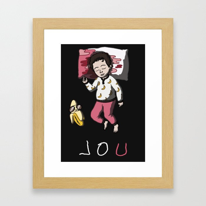 Sleeping Artist LOU Framed Art Print