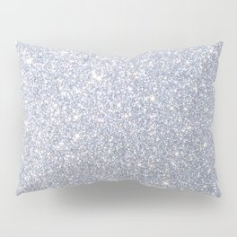 Silver Metallic Sparkly Glitter Pillow Sham