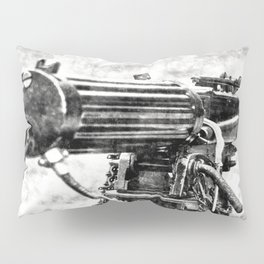 Vickers Machine Gun Vintage Pillow Sham