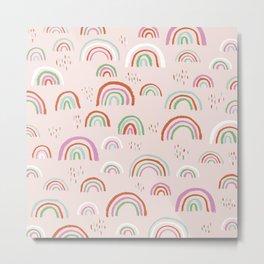 Colorful rainbows magic dreams kawaii sky kids Metal Print