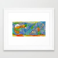 platypus Framed Art Prints featuring Platypus by Nemki