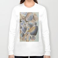 seashell Long Sleeve T-shirts featuring Seashell Abstract by Christiane W. Schulze Art and Photograph