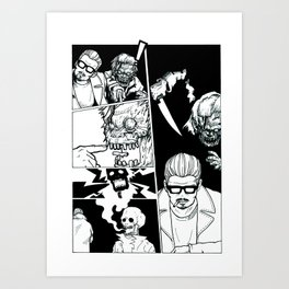 Sick of Crime Art Print