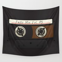 cassette Wall Tapestries featuring Cassette Tape Mix Classic by DavinciArt