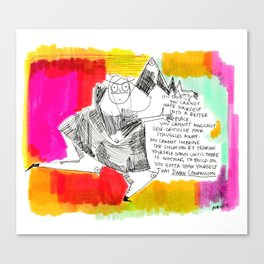Thought for the day Canvas Print
