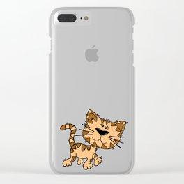 Cartoon Cat Clear iPhone Case