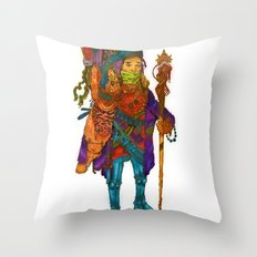 Nomad Funk Legs Robo Sandal Brother Throw Pillow