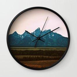 Tetons Wall Clock