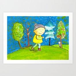 Run in every season of your life! Art Print