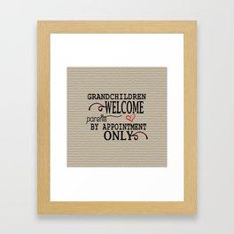 Grandchildren Welcome Framed Art Print