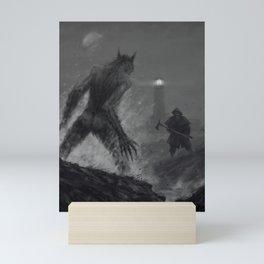 The lighthouse keeper Mini Art Print
