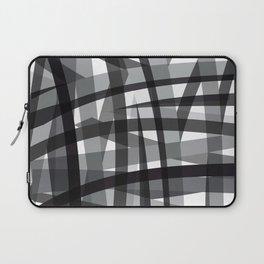 grey crossed stripes Laptop Sleeve