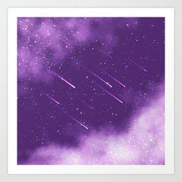 Meteors Art Print