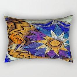 Tribal Sun Abstract Rectangular Pillow