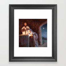 God in a Manger Framed Art Print