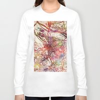 portland Long Sleeve T-shirts featuring Portland by MapMapMaps.Watercolors