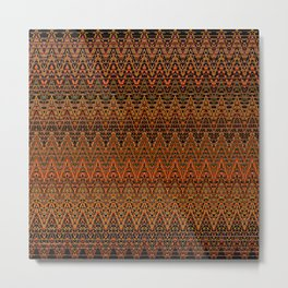 Autumn Chevrons Metal Print