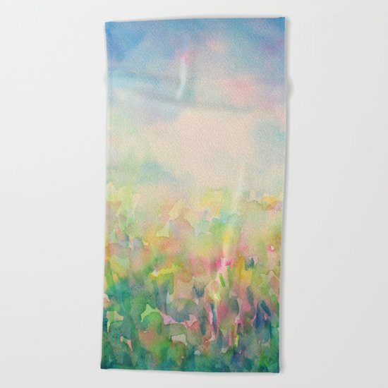 Blue Mystical Spring Beach Towel