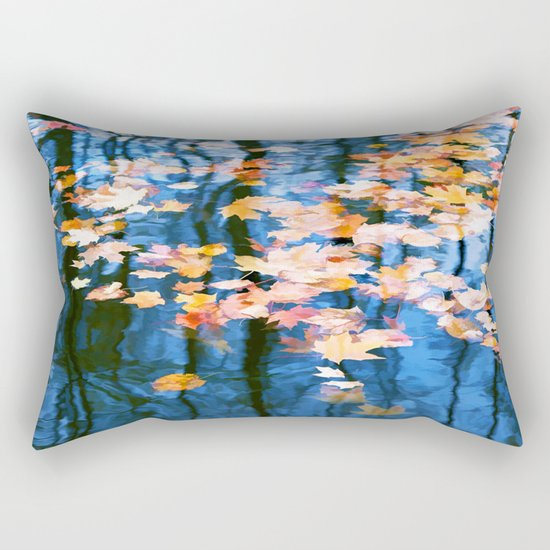 Fallen leaves in water Rectangular Pillow