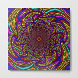 Wave Mandala - Multicolor Metal Print