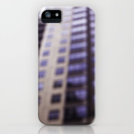 Losing Focus in Downtown Seattle iPhone Case