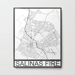 Salinas Fire Metal Print