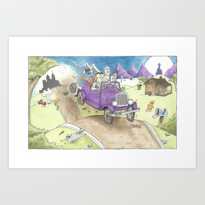 Monster Ride Art Print
