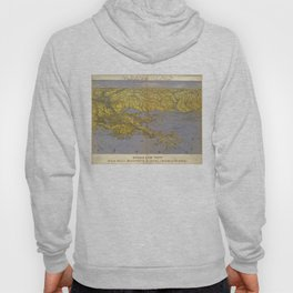 Vintage Pictorial Map of The Gulf (1861) Hoody