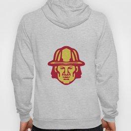 Fireman Head Front Retro Hoody