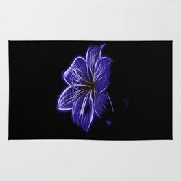 A luminescent flower Rug