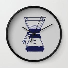 Blue Chemex Wall Clock