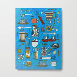 Coffee Time any Time Metal Print