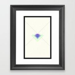 Paper Diamonds Framed Art Print
