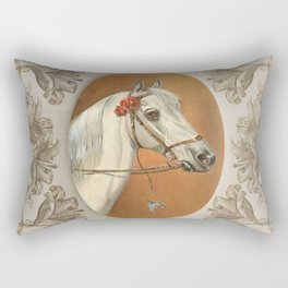 Arabian Horse portrait Rectangular Pillow
