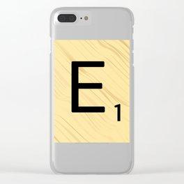 Scrabble E Decor, Scrabble Art, Large Scrabble Prints, Word Art, Accessories, Apparel, Home Decor Clear iPhone Case