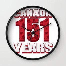 Canada 151 Years Anniversary - Canada Day Wall Clock