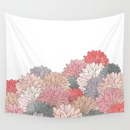 Hydrangea Haven - Muted Colors Wall Tapestry