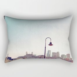 Minneapolis Minnesota Skyline at the Stone Arch Bridge Rectangular Pillow