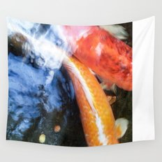 Koi Abstraction 004 Wall Tapestry
