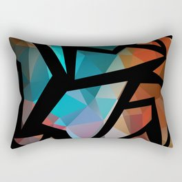 Abstract background of triangles polygon print. Rectangular Pillow