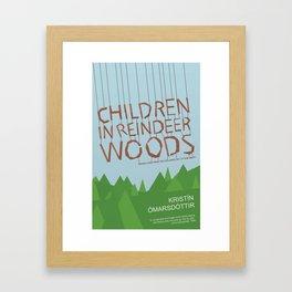 Children in Reindeer Woods Framed Art Print