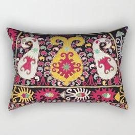Lakai Tribal Nomad Antique Uzbekistan Horse Cover Print Rectangular Pillow