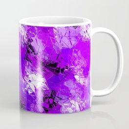 Fractured Ultra Violet Pattern Coffee Mug