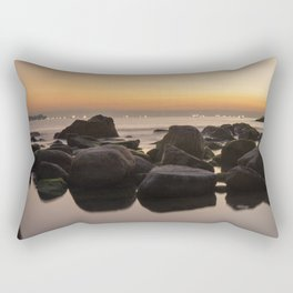 Rocky Ocean Sunrise Rectangular Pillow