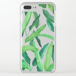 hojas tropicales Clear iPhone Case